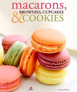 Libro sobre Macarons, Brownies, Cupcakes y Cookies
