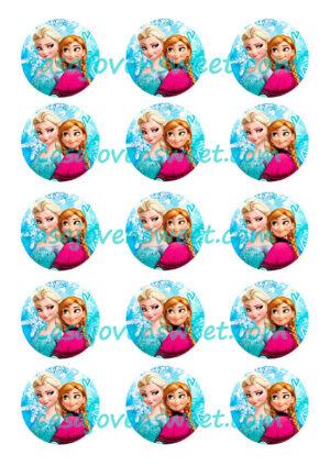 Papel de azucar - Elsa y Ana
