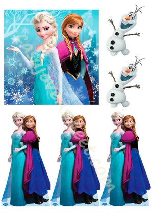 Papel de azucar - Frozen 4