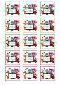 Papel de azucar - Pocoyo - Felicidades Cuadradas Colores