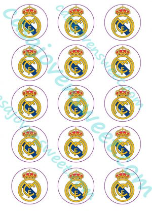 Papel de azucar - Real Madrid