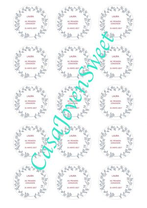 Papel de Azucar - Comunion - Circulos