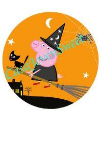 Papel de azucar - Halloween - Peppa Pig 20 cm