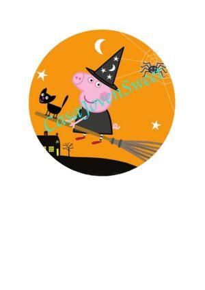 Papel de azucar - Halloween - Peppa Pig 15cm