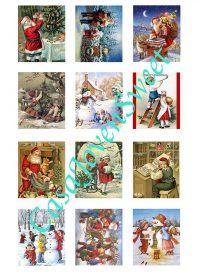 Papel de azucar - Navidad - Clasico