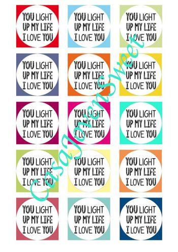 Papel de azucar - Amor - I Love You