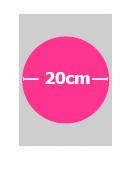 Papel de Azucar A4 1 Circulo