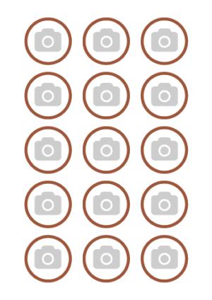Tu propia imagen en Papel de Azúcar en 15 circulos