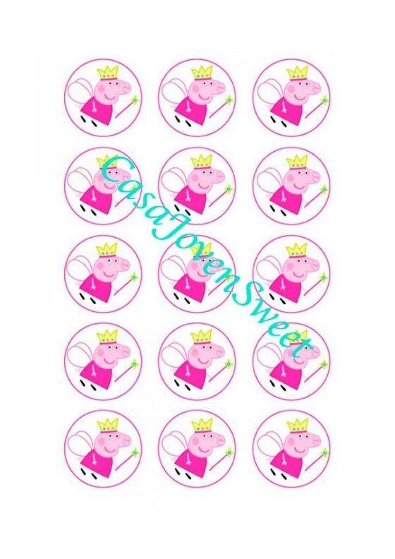Papel de azucar - Peppa Pig princesa