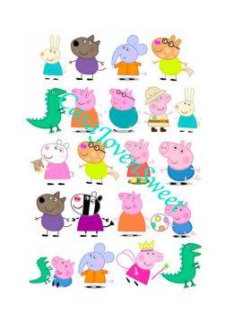 Papel de azucar - Peppa Pig y sus amigos