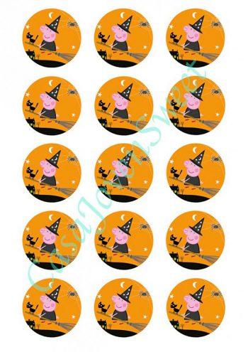 papel-de-azucar-halloween-peppa-pig-circulos