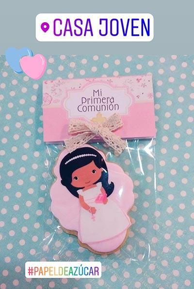 galletas papel azucar comunion