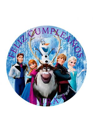Papel comestible Diseños Mixtos Frozen 9