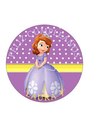 Papel comestible Diseños Mixtos Princesa sofia