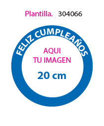 Papel de Azucar Plantilla 304066