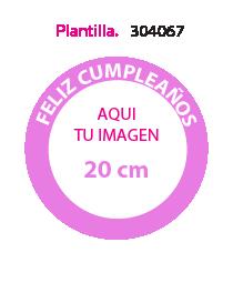 Papel de Azucar Plantilla 304067
