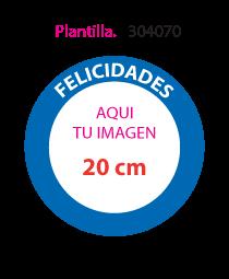 Papel de Azucar Plantilla 304070